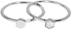 Cluse Zestaw dwóch pierścieni z sześciokątami CLJ42001