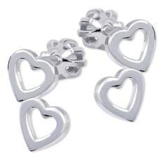 Brilio Silver Srdíčkové Kolczyki wykonany ze srebra 431 001 01502 04 srebro 925/1000