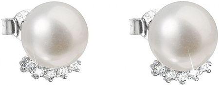 Evolution Group Stříbrné náušnice pecky s pravými perlami Pavona 21020.1 stříbro 925/1000