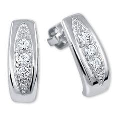 Brilio Silver Piękne Kolczykiz kryształkami 436 001 00162 srebro 925/1000