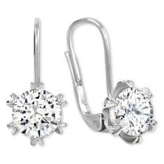Brilio Silver Błyszczące Kolczykiz kryształem 436 001 00407 05 srebro 925/1000