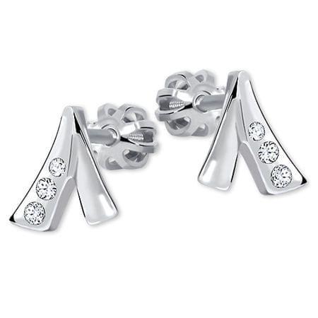Brilio Silver Przyzwoite Kolczykiz kryształkami 436 001 00187 04 srebro 925/1000