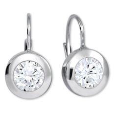 Brilio Silver Stříbrné náušnice s krystaly 436 001 00403 04 stříbro 925/1000