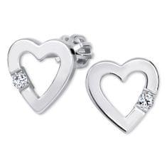 Brilio Silver Srdíčkové Kolczykiz kryształem 436 001 00418 04 srebro 925/1000