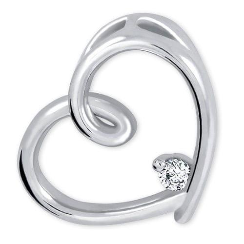Brilio Silver Stříbrný přívěsek Srdce s krystalem 446 001 00226 04 stříbro 925/1000