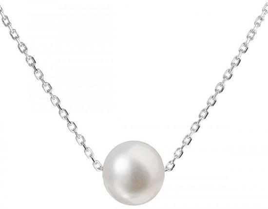 Evolution Group Strieborný náhrdelník s pravou perlou Pavona 22014.1 striebro 925/1000