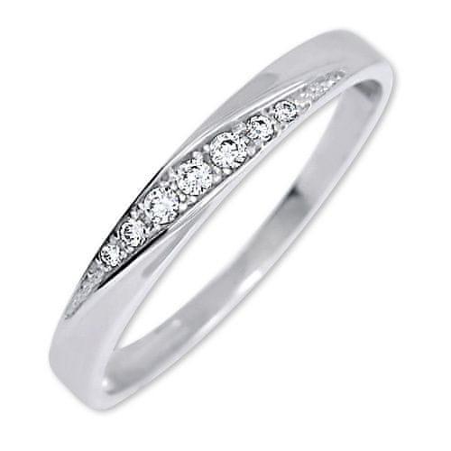 Brilio Pekný prsteň s kryštálmi 229 001 00602 07 (Obvod 51 mm) biele zlato 585/1000
