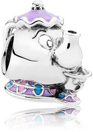 Pandora Srebrna kroglica Disney Mrs. Potts and Chip 792141ENMX srebro 925/1000