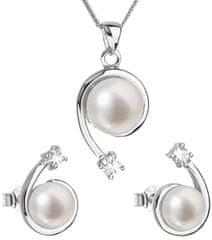 Evolution Group Luxusná strieborná súprava s pravými perlami Pavona 29031.1 (náušnice, retiazka, prívesok) striebro 925/1000
