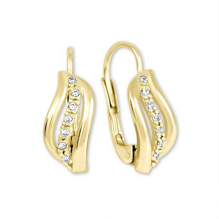3047d7767 Brilio Zlaté náušnice s kryštálmi 239 001 00688 - 1,85 g žlté zlato ...
