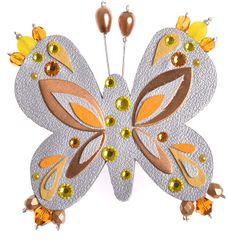 Petra Švarcová Stříbřitá brož Motýl