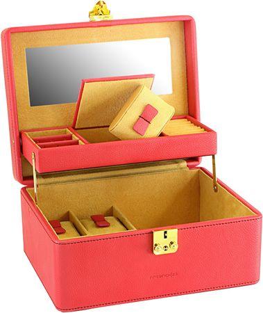 Friedrich Lederwaren Škatla za nakit rdeča / bež Ascot 20124-4