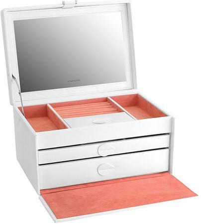 Friedrich Lederwaren Škatla za nakit Bela / Rdeča Mandala 20129-1