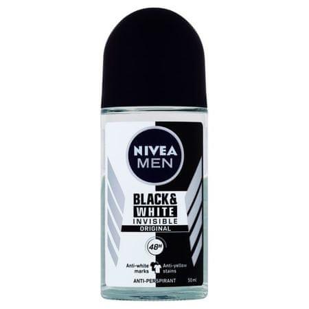 Nivea Piłka antyperspirant dla mężczyzn niewidzialnym dla Black & White Power 50 ml
