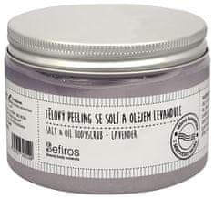 Sefiros Levendule olajat és tengeri sót tartalmazó testradír (Salt & Oil Bodyscrub) 300 ml