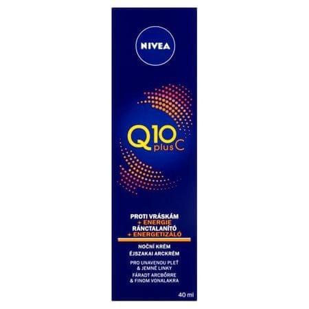 Nivea Energizáló éjszakai krém ránctalanító Q10 Plus C 40 ml