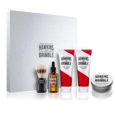Hawkins & Brimble Arcápoló ajándékcsomag férfiaknakelemi és ginzeng illattal 5 db
