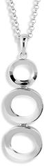 Modesi Elegantní náhrdelník ze stříbra M45015 (řetízek, přívěsek) stříbro 925/1000