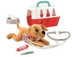 ECOIFFIER Bőrönd állatorvosnak kutyával