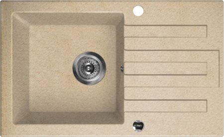 Deante komplet granitni sudoper Lima + armatura ZRLA 7113, boja pijeska