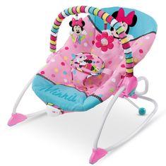 Bright Starts Húpatko vibrujúce Minnie Mouse Peekaboo Rocker, 0m +, do 18kg