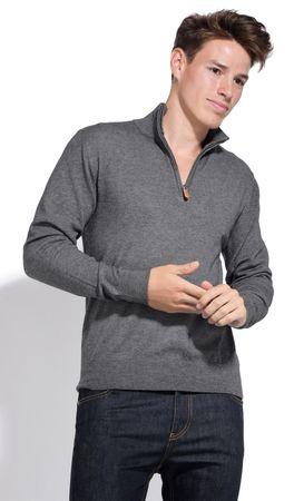William de Faye moški pulover, XL, siv