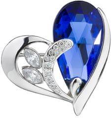 Preciosa Stříbrná brož Wild Heart Sapphire 6648 68 stříbro 925/1000