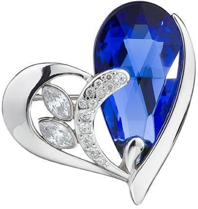 Preciosa Srebrna broška Wild Heart Sapphire 6648 68 srebro 925/1000