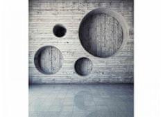 Dimex Fototapeta MS-3-0038 Drevená 3D stena 225 x 250 cm