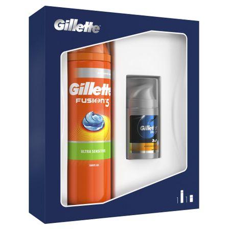 Gillette darilni komplet gel za britje Fusion5 Sensitive + balzam za po britju