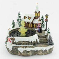 Seizis Kostelík vánoční s vodní fontánou a LEDkami