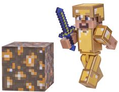 TM Toys Minecraft - kolekcjonerska figurka Steve w złotej zbroi