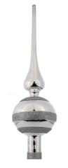 Seizis czubek na choinkę, 30x8 cm, srebrny