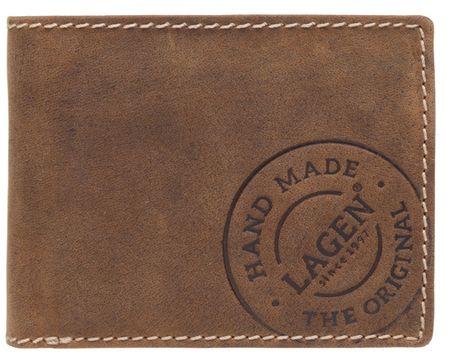 Lagen Férfi barna bőr pénztárca Barna 5081 / C