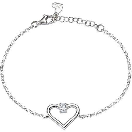 Morellato Srebrna zapestnica Cuori SAIV25 zaljubljena srebro 925/1000