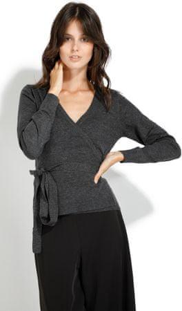 William de Faye ženski pulover, temno siv, XL