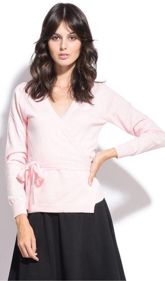 William de Faye dámský svetr XL světle růžová