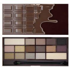 Makeup Revolution Zázračná paletka očných tieňov Smrť čokoládou I LOVE MAKEUP (Wonder Palette Death By Chocolate) 22 g