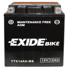 Exide bezúdržbová AGM batérie ETX14AH-BS, 12V 12Ah, za sucha nabitá. Náplň súčasťou balenia.