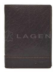Lagen Pánská kožená peněženka V-26/T D.BRN