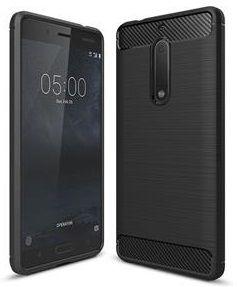 Silikonski ovitek za Nokia 6.1, carbon črn