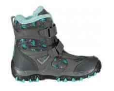 ALPINE PRO Dívčí zimní obuv Wano - černo-tyrkysové