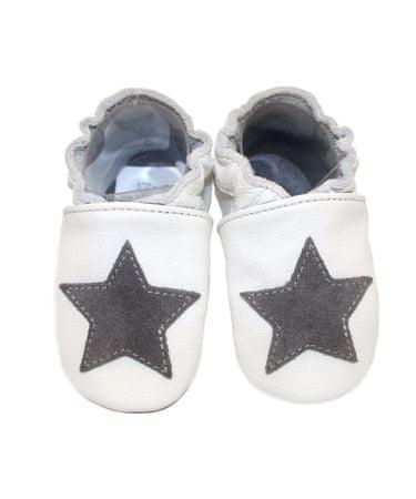 baBice dekliški copati z zvezdico, 16,5, beli