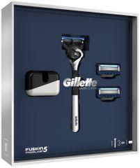 Gillette Zestaw prezentowy Fusion5 ProGlide + 2 głowice wymienne + stojak