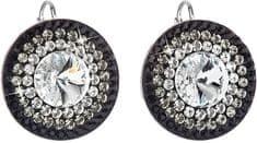 Evolution Group Lepi srebrni uhani kristal 31208.3 + jet srebro 925/1000