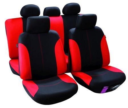 MAMMOOTH Potahy na sedadla Callao, kombinace přední a zadní, materiál: polyester, barva: černo-červená