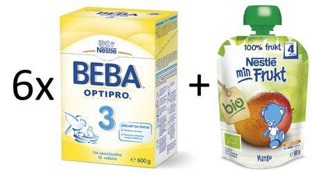 Nestlé 6x OPTIPRO 3 600g + 6x man. kapsička 90g