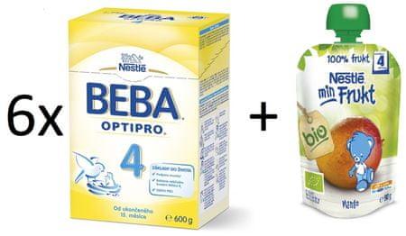 Nestlé 6x OPTIPRO 4 + 6x Bio Mango kapsička 90g