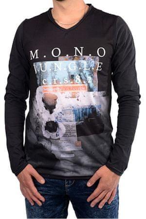 Cars-Jeans Pánské černé tričko s potiskem Porzo Black 4597201 (Velikost M)