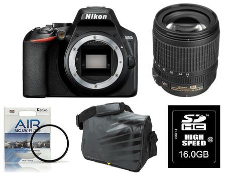 Nikon DSLR fotoaparat D3500 + 18-105VR + Fatbox 16GB + UV filter